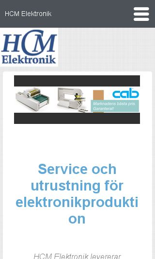 Mobile preview of hcm.se