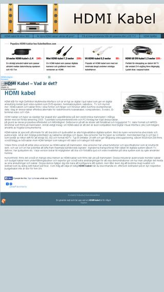 Mobile preview of hdmi-kabel.se