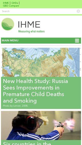 Mobile preview of healthdata.org