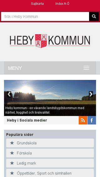 Mobile preview of heby.se