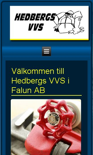 Mobile preview of hedbergsvvs.se
