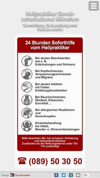 Mobile preview of heilpraktiker-bereitschaftsdienst-muenchen.de