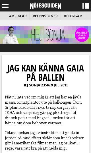 Mobile preview of hejsonja.se