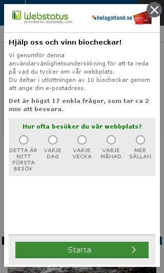 Mobile preview of helagotland.se