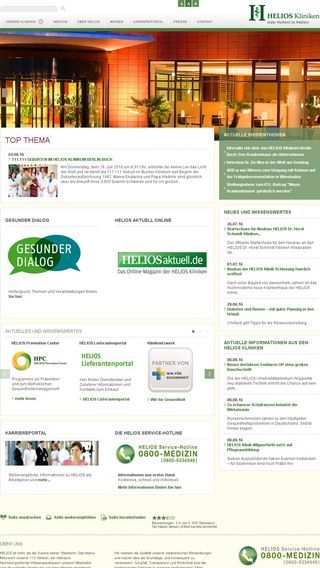 Mobile preview of helios-kliniken.de