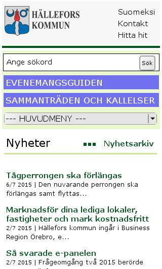 Mobile preview of hellefors.se