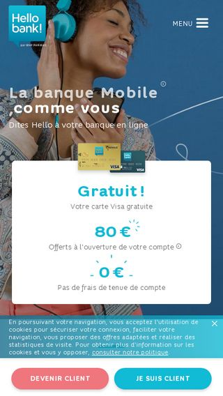 Mobile preview of hellobank.fr