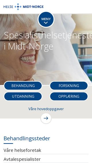 Mobile preview of helse-midt.no