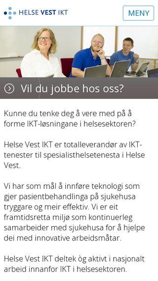 Mobile preview of helse-vest-ikt.no
