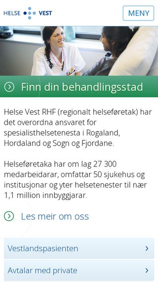 Mobile preview of helse-vest.no