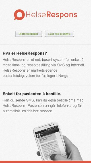 Mobile preview of helserespons.no