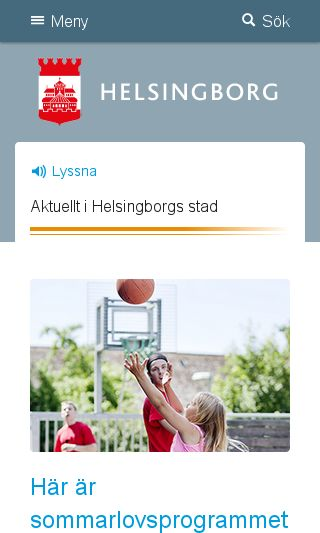 Mobile preview of helsingborg.se