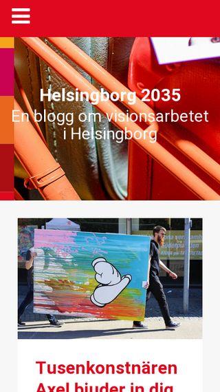 Mobile preview of helsingborg2035.se
