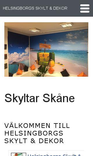 Mobile preview of helsingborgsskylt.se