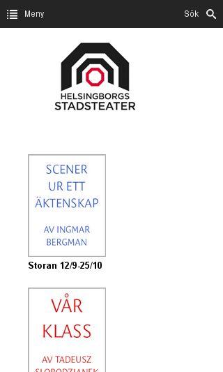 Mobile preview of helsingborgsstadsteater.se