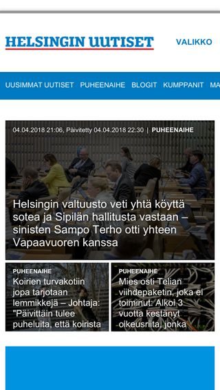 Mobile preview of helsinginuutiset.fi