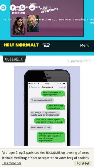 Mobile preview of heltnormalt.dk