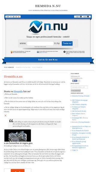 Mobile preview of hemsida.n.nu