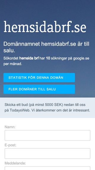 Mobile preview of hemsidabrf.se