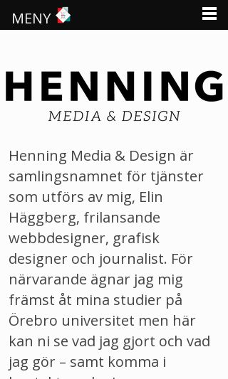 Mobile preview of henningmedia.se