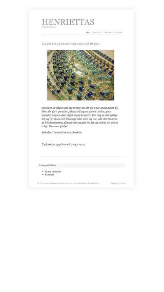 Mobile preview of henriettassmyckeskrin.n.nu