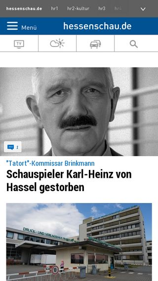 Mobile preview of hessenschau.de