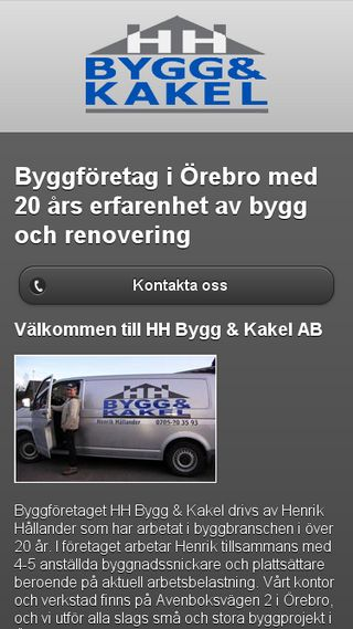 Mobile preview of hhbyggokakel.se