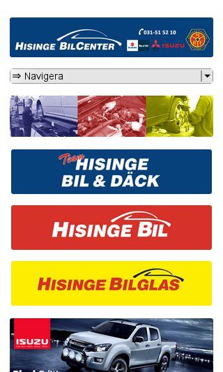 Mobile preview of hisingebilcenter.se