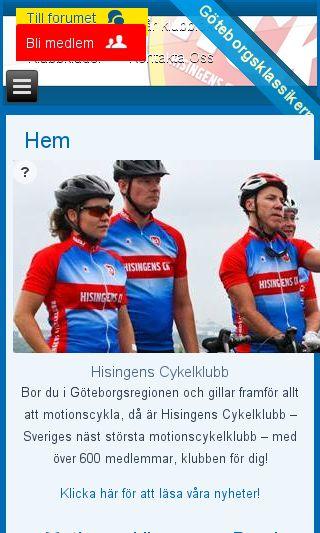 Mobile preview of hisingensck.se