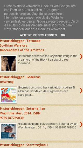 Mobile preview of historiebloggen.nu