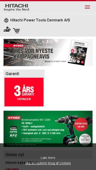 Mobile preview of hitachi-powertools.dk