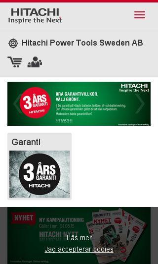 Mobile preview of hitachi-powertools.se