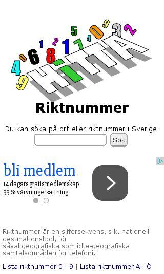 Mobile preview of hittariktnummer.se