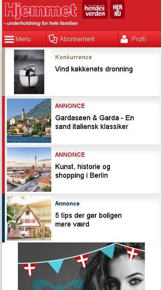 Mobile preview of hjemmet.dk