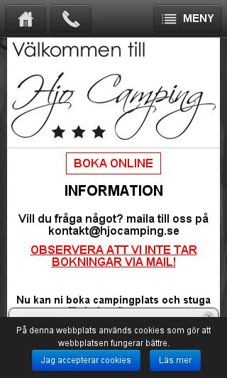 Mobile preview of hjocamping.se