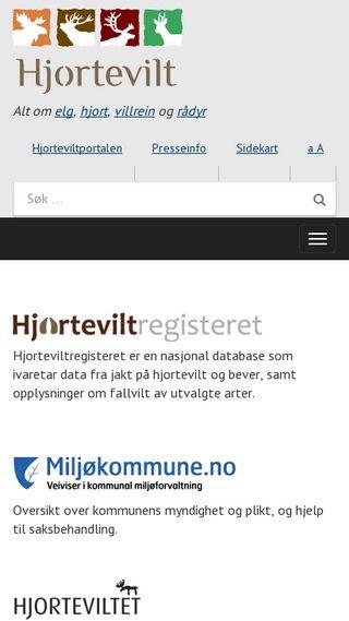 Mobile preview of hjortevilt.no