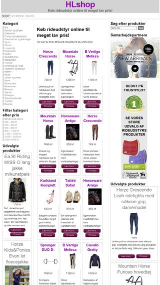 Mobile preview of hlshop.dk