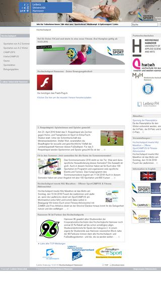 Mobile preview of hochschulsport-hannover.de