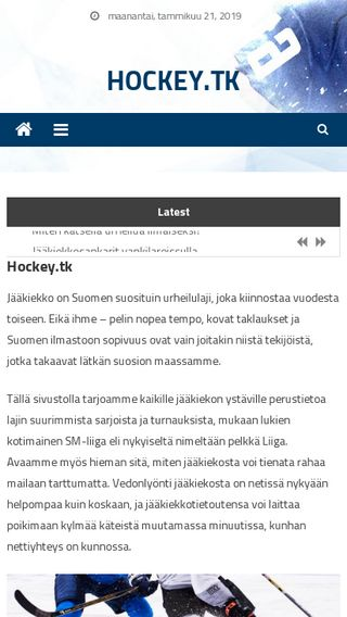 Mobile preview of hockey.tk
