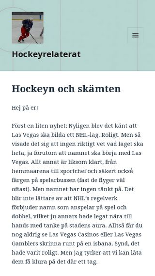 Mobile preview of hockeyrelaterat.se