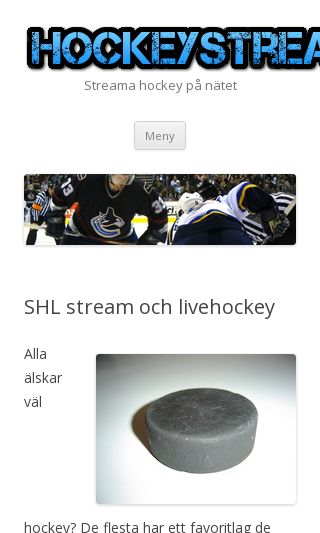 Mobile preview of hockeystreams.se