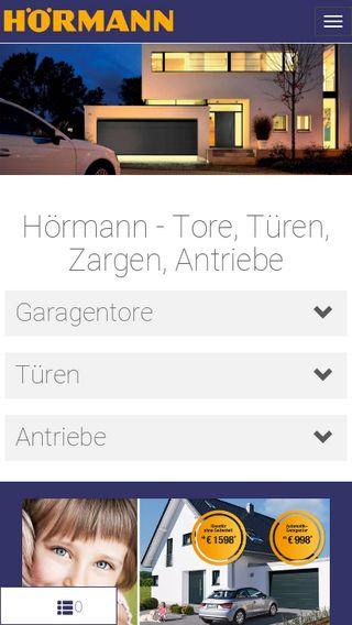 Mobile preview of hoermann.de