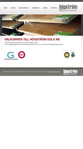 Mobile preview of hogstromgolv.se