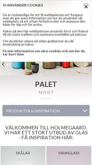 Mobile preview of holmegaard-design.se