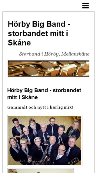 Mobile preview of horbybigband.n.nu