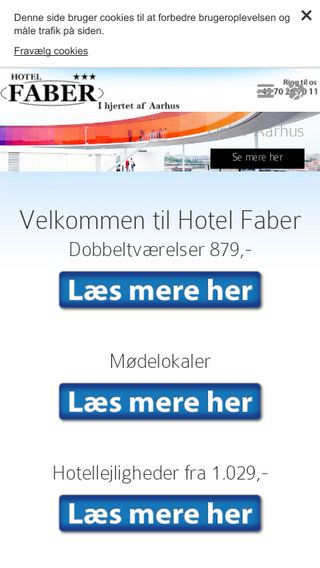 Mobile preview of hotel-faber.dk