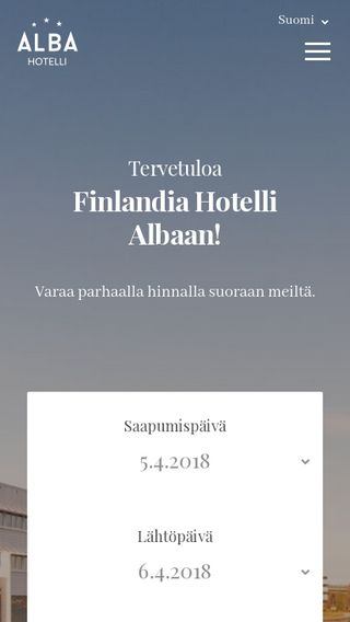 Mobile preview of hotellialba.fi
