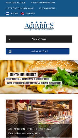 Mobile preview of hotelliaquarius.fi
