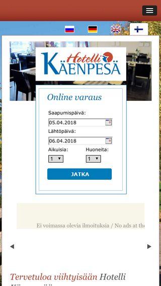 Mobile preview of hotellikaenpesa.fi