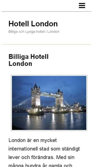 Mobile preview of hotelllondon.n.nu